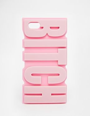 Funda para iPhone 5 con diseño BITCH de ASOS