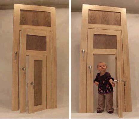 Doors-In-Doors! The only thing missing is a cats door! ;-)