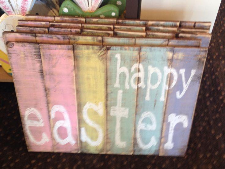 Easter pallet sign~Kirklands