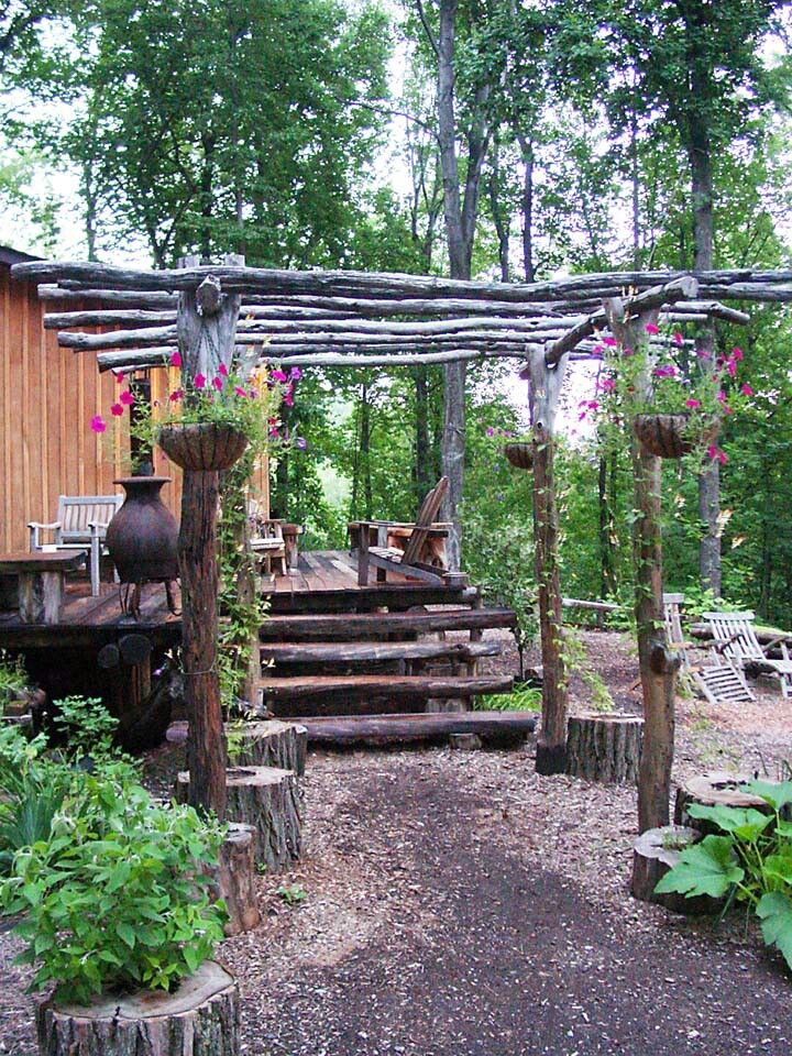 17 best images about pergolas on pinterest decks for Rustic gazebo kits