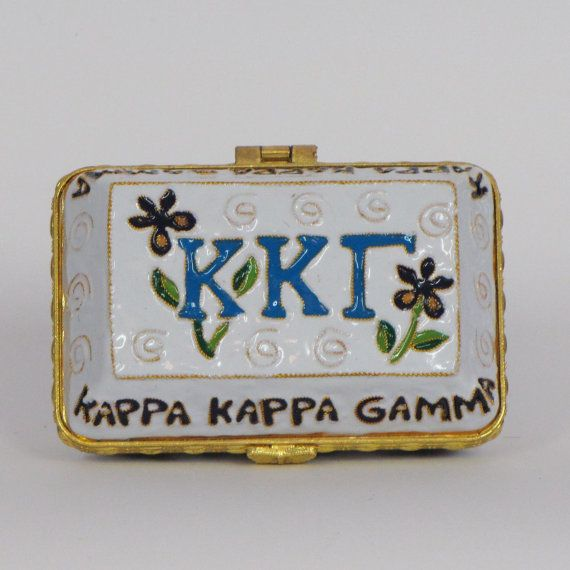 Kappa Kappa Gamma 24k Gold Plated Officially by KittyKellerDesigns