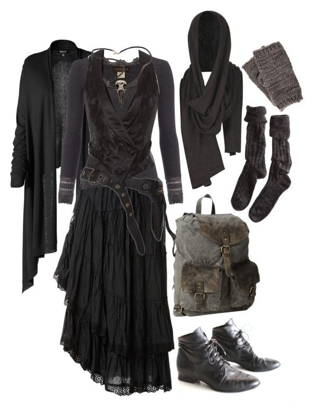 """""""Elven Warrior"""" by n-nyx ❤ liked on Polyvore featuring DKNY, Raxevsky, Rosemunde, AllSaints, Rodarte, Raven Denim, Pieces, Polder, Bed