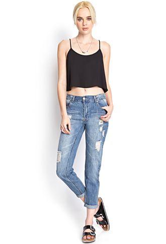 Sunny Daze Boyfriend Jeans | FOREVER 21 - 2000124362 - http://AmericasMall.com/categories/juniors-teens.html