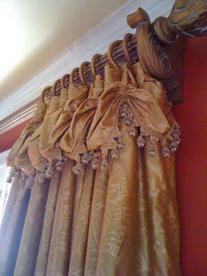 Scrumptious silk draperies by Carol Raley Interiors.