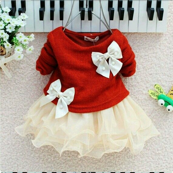 Red top with bows