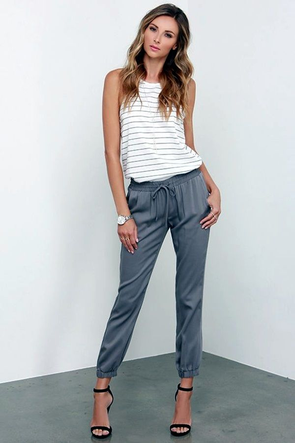 45 Stylish Jogger Pants Outfit that'll Inspire You 3