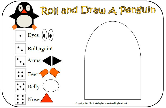 Kids Activity - Roll & Draw a Penguin - download