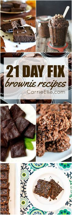 21 Day Fix Brownie Recipes (yum!!)