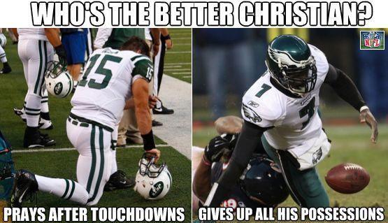 Football meme  Haha Who's the better Christian?