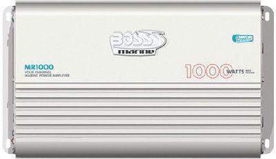 BOSS AUDIO MR1000 Marine Weather Proof 1000-Watt Full Range, Class A/B 2-8 Oh...
