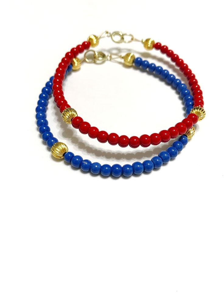 red and blue bracelet, patriots jewelry, game day outfit, new england