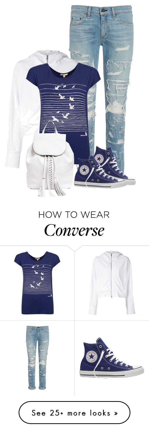 """Untitled #427"" by seahag2903 on Polyvore featuring rag & bone, Converse, Lareida, Barbour, Rebecca Minkoff, women's clothing, women, female, woman and misses - free womens clothing, online shop womens clothing, womens cheap clothing stores"