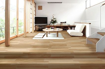 A Natural Wood Effect Tile Look
