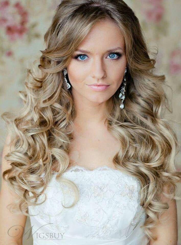 Peinados para novias con pelo largo suelto | Penteados de Noiva con Cabelo solto e longo | Bride hairstyles long hair  @ http://seduhairstylestips.com