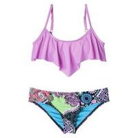 Target : Junior's 2-Piece Bikini Swimsuit -Lilac/Floral
