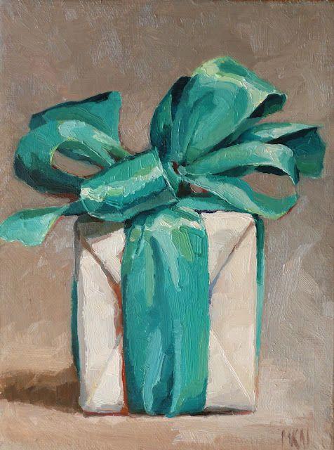 I wonder what's inside.  from karen appleton oil paintings