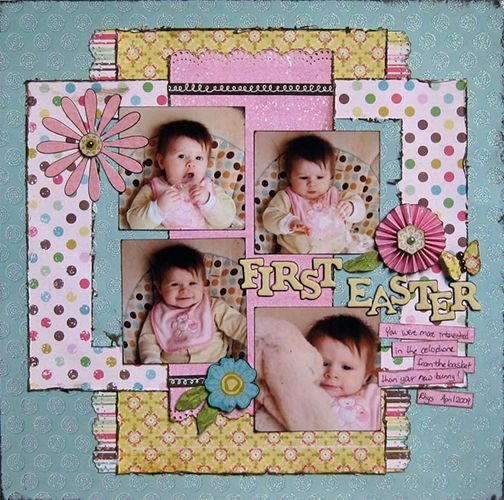 cute layout for any Easter papers