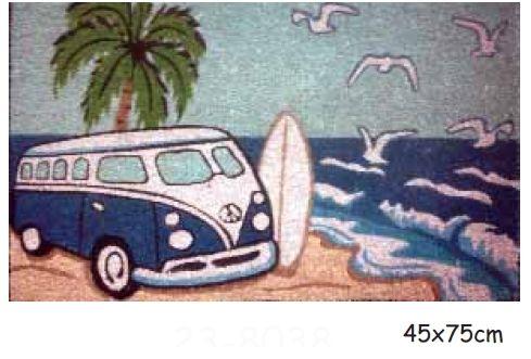 The Gecko Shack - Coir Door Mat - Beach Scene Blue Kombi Floor Mat, $29.95 (http://www.geckoshack.com.au/coir-door-mat-beach-scene-blue-kombi-floor-mat/)