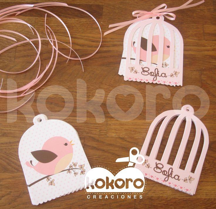 BABY SHOWER PAJARITOS Invitaciones de Jaula =) www.facebook.com/kokorocreaciones
