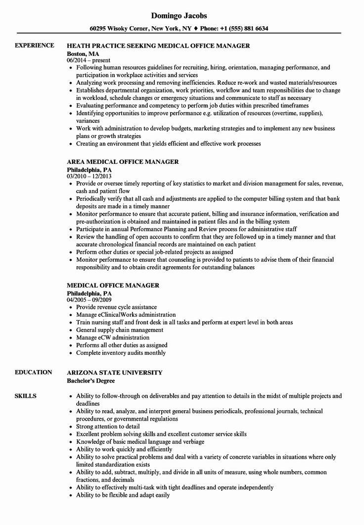 office administrator resume examples best of medical fice