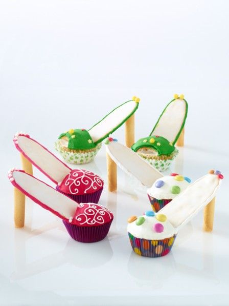 Sie mögen Schuhe? Dann werden Sie High Heel Muffins lieben! Ein ganz besonderer Muffin, der in wenigen Handgriffen gebacken und verziert ist.