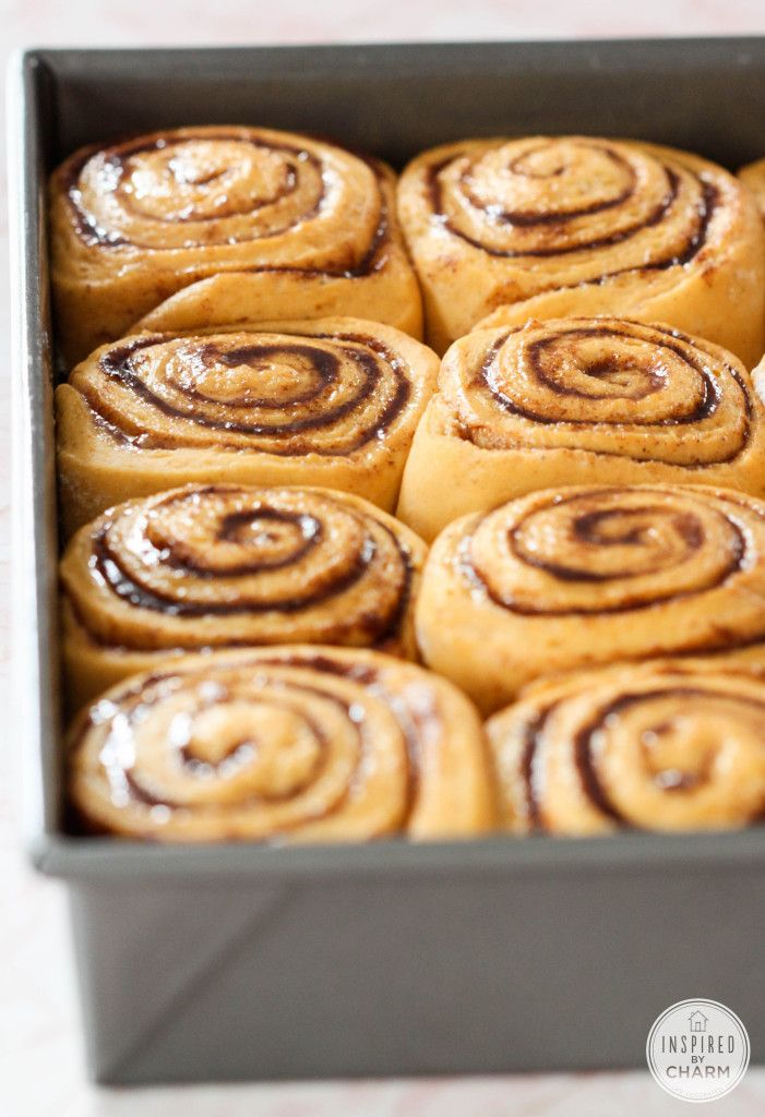 Pumpkin Cinnamon Rolls - one of the best recipes on Pinterest!