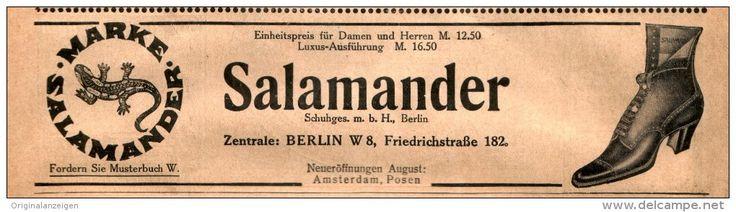 Original-Werbung/ Anzeige 1911 - SALAMANDER SCHUHE / BERLIN - ca. 190 X 50 mm