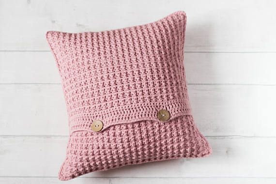 Pink Nursery Decor, Boho Cushion, Scandinavian Cushion Cover, Hygge Decor, Pastel Throw Pillow, Girls Bedroom, Shabby Chic, Textured Cushion