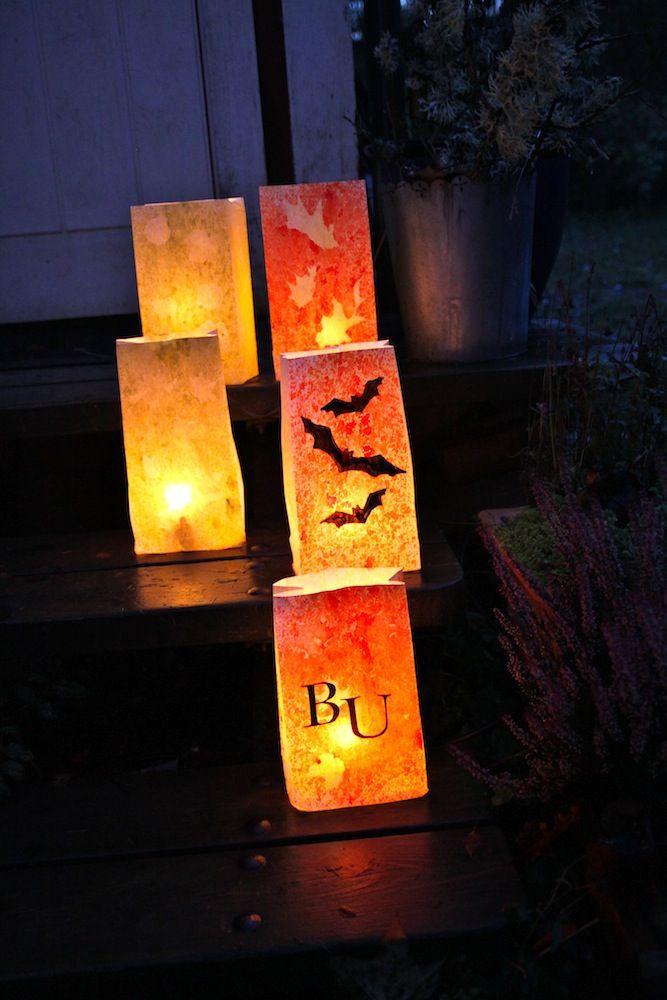 Rebeccas DIY: DIY Halloween: Papperslyktor * Paper lanterns