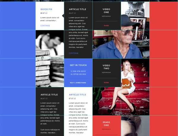 Web design with a split personality. on Behance