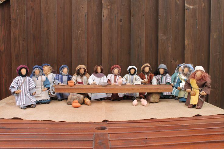 Weiteres - Biblische Erzählfiguren - Das letzte Abendmahl - ein Designerstück von GR-ossMama bei DaWanda