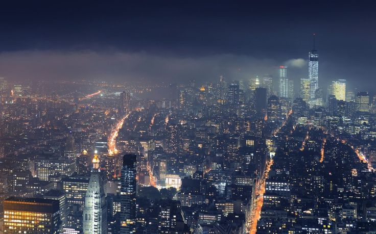 New York City Gotham City Night View