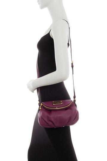 Image of Marc Jacobs Classic Mini Leather Aubergine Messenger Bag