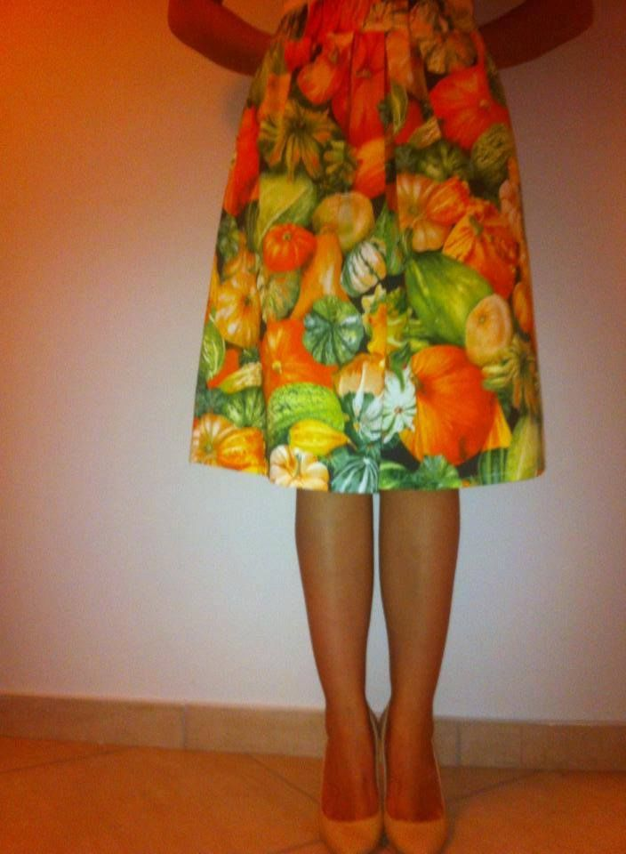 #midi#skirt #colours#summer#pumpkins#zucchini