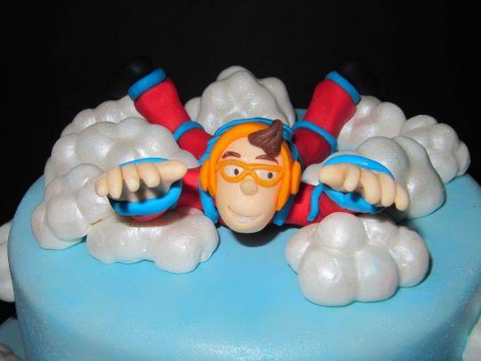 Skydiving Cookie Cake