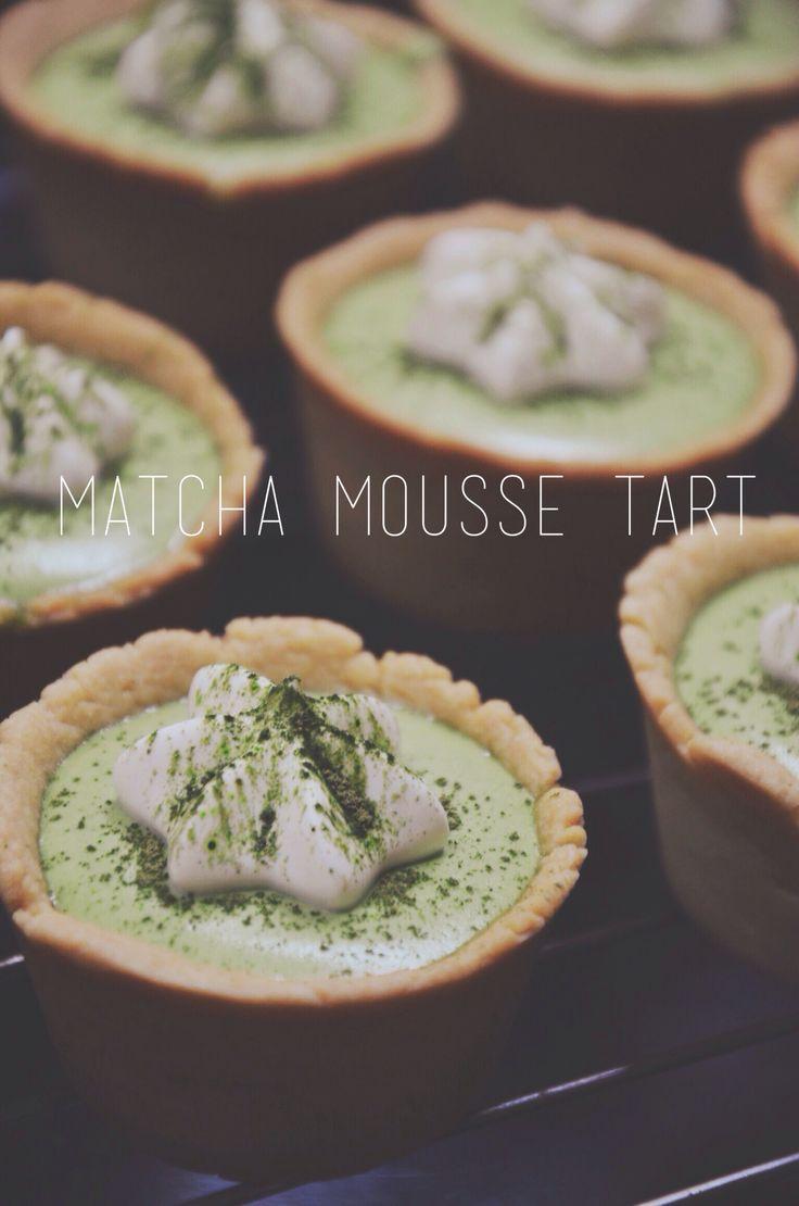 #matcha #mousse #tart