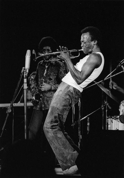 Miles Davis, Lenox, MA, August 1970 Photo by David Gahr