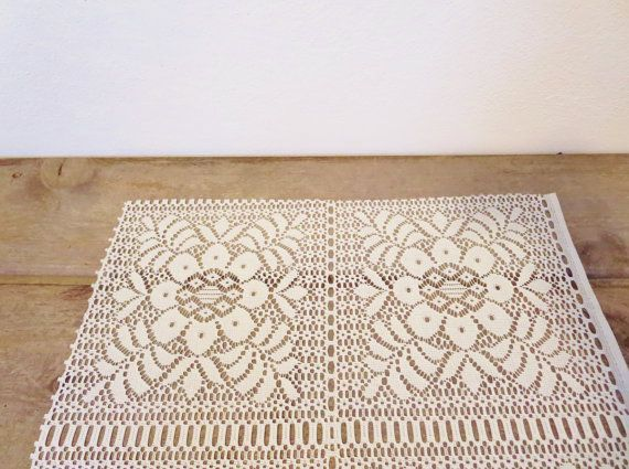 Gorgeous for your Wedding or Holiday table!  Vintage Lace Table Runner / Boho Table Runner / by ZenDenVintage