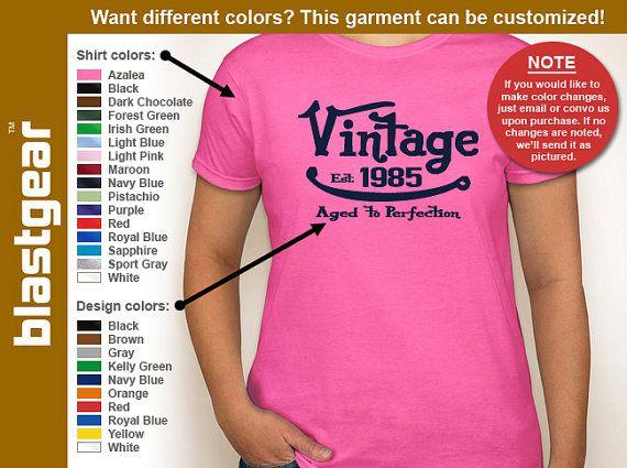 Gratuite expédition * | Vintage 1985 (une année) vieillie à la Perfection 30e anniversaire womens T-shirt — toutes couleurs/toutes les tailles - adultes S, M, L, XL, 2XL, 3XL
