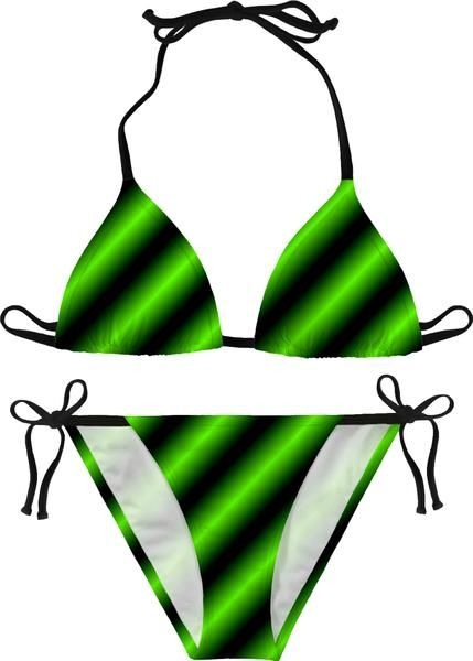 a66927c69f944 Green neon lines bikini set, black and laser green color modern pattern  swimwear, stylish women summer apparel, beach clothing - for more art and  design be ...