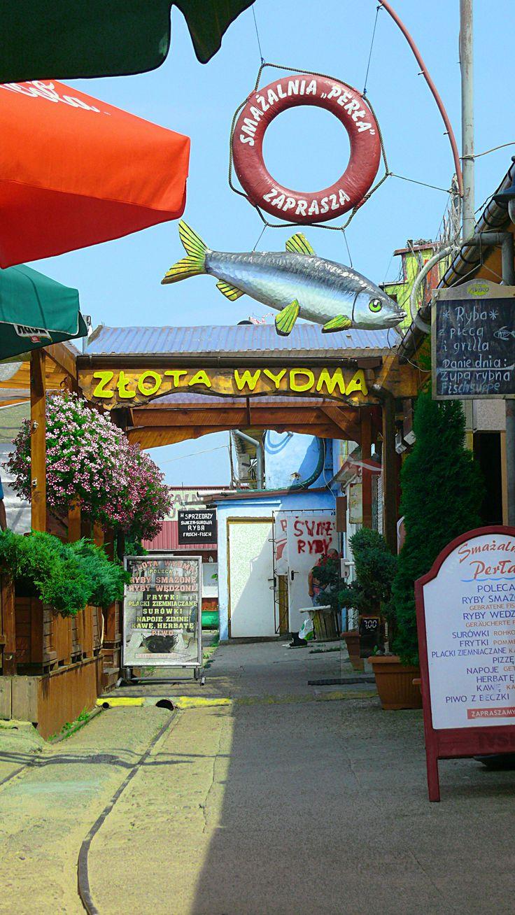 Fish port, market and restaurants with fresh and smoked fish - Miedzyzdroje, POLAND