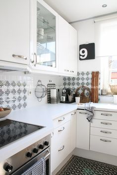 Wollt ihr eure Küche streichen? Traumhafte Vorher-Nachher-Bilder von Biancas - Biancas Wohnlust Küche seht ihr hier.