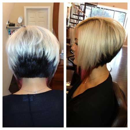 back view short inverted bob hairstyles 2015
