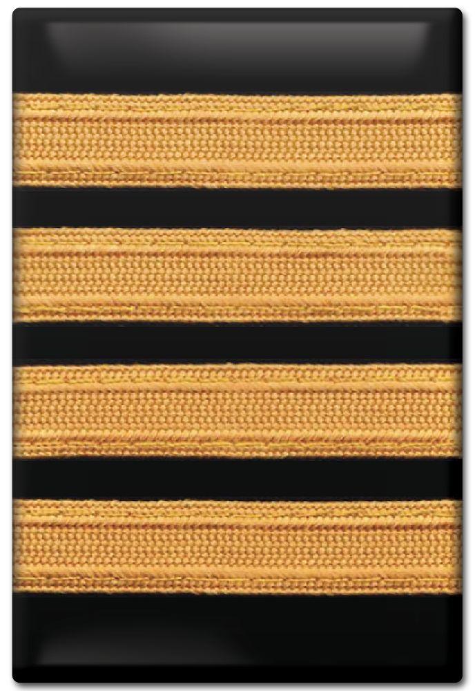 Fridge Magnet Epaulet 4 Stripe Captain Aviacion