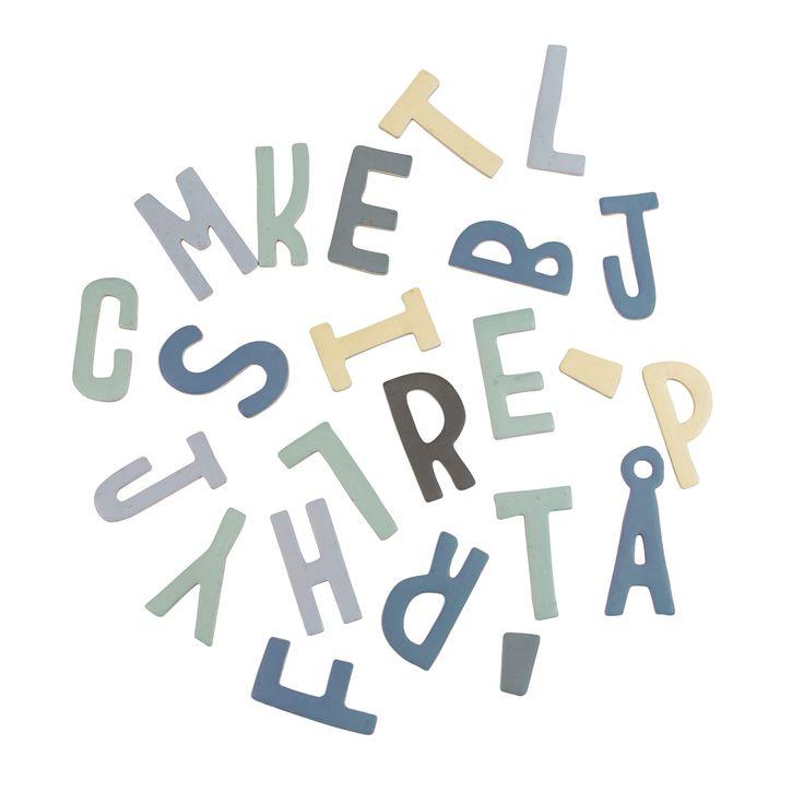 Sebra magneter i æske, alfabet - dreng - Bestil her | LirumLarumLeg