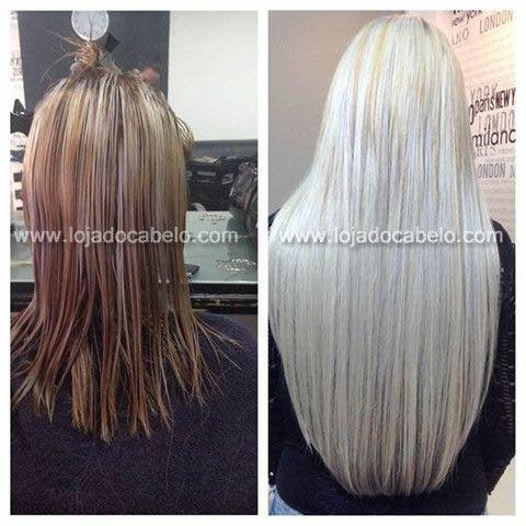Esta cliente decidiu aplicar cabelo loiro platinado de 60-65 centímetros de comprimento.  A sua escolha foi o cabelo asiático virgem. O resultado após a descoloração e a aplicação com o método do nó italiano está à vista de todos!  Palavras para quê? Loja do Cabelo - o melhor cabelo, o melhor resultado!  #lojadocabelo #hair #hairextensions #longhair #nice #sexyhair #blonde #extensõesdecabelo #cabelo #cabelos #longos