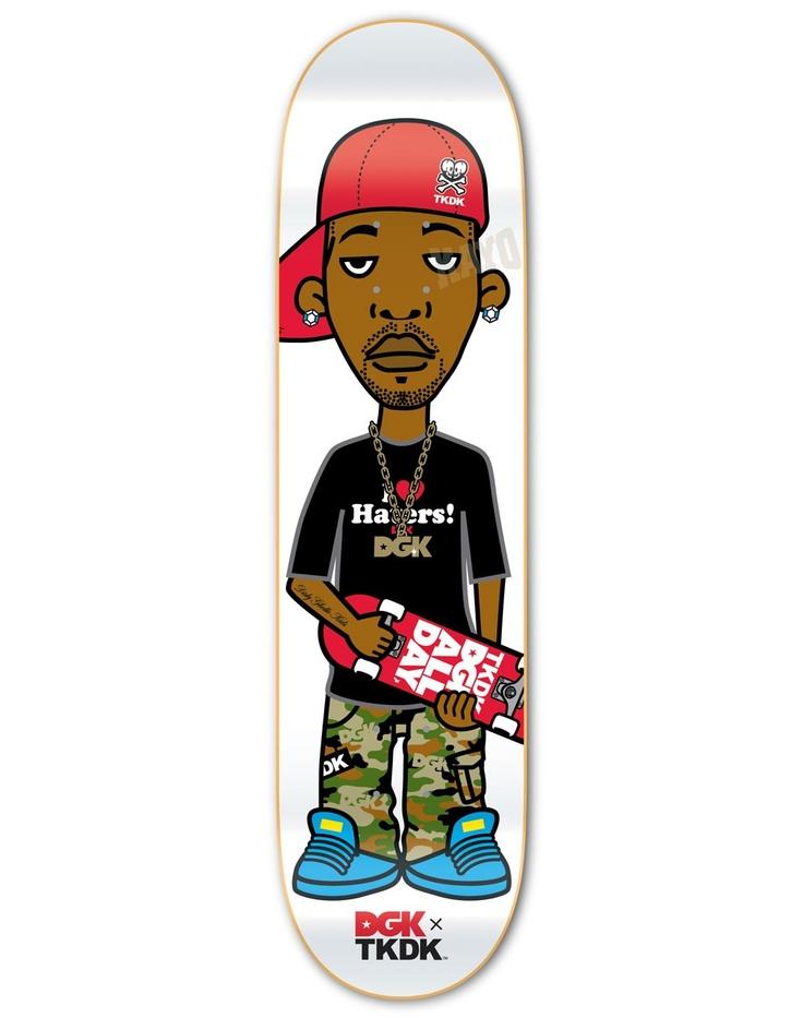 DGK X TKDK Lil Stevie Skatedeck