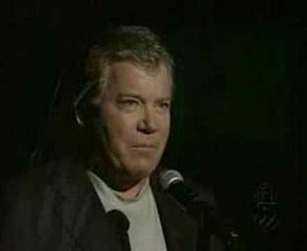 William Shatner - I Am Canadian - Easy to forget what a handsome man he is. Or was depending on your age.