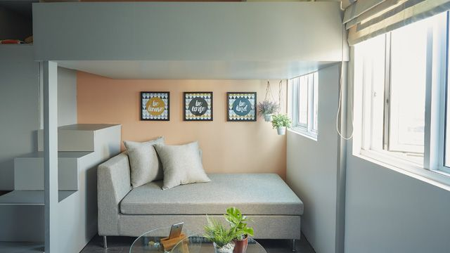 A Loft Exists In This 21sqm Condo Unit Small Condo Living Condo Interior Design Condo Interior
