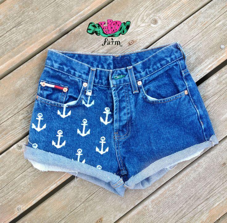DIY  High Waist Anchor Shorts. etsy.com